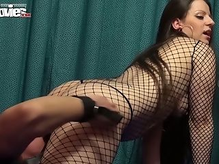 Ass, Blowjob, Brunette, Cumshot, Dirty, Femdom, Fishnet, Handjob, Hardcore, Missionary,