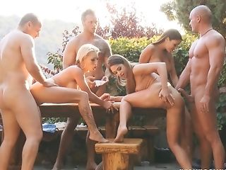 Exhibitionist, Fake Tits, Friend, Group Sex, Hardcore, Long Hair, Orgy, Outdoor, Pornstar,