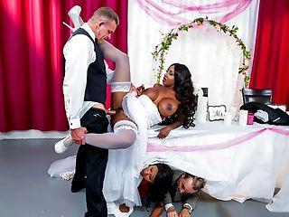 Big Tits, Black, Bride, Fake Tits, Interracial, MILF, Missionary, Stepdad, White,