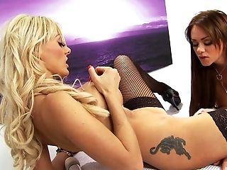 Antonia Deona, Big Tits, Bikini, Fake Tits, Fingering, Fishnet, High Heels, Jerking, Lesbian, Long Hair,