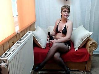Granny, Lingerie, Perverted, Stockings, Strapon,