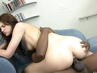 Big Black Cock, Big Cock, Black, Blowjob, Boobless, Brunette, Cowgirl, Creampie, Cute, Faith Leon,