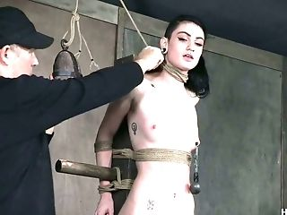 BDSM, Black, Bondage, Boobless, Brunette, Dungeon, Nipples, Rough, Seduction, Sex Toys,