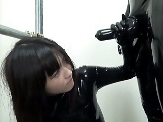 Babe, Blowjob, Catsuit, Dick, Dressed, Ethnic, HD, Latex, Master, Submissive,