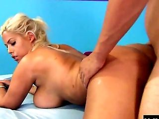 Big Tits, Couch, Couple, Cum In Mouth, Cum Swallowing, Cumshot, Doggystyle, Ethnic, Fake Tits, Hardcore,