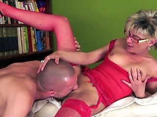 Big Ass, Big Tits, Blonde, Blowjob, Facial, Granny, Old And Young, Short Haired,