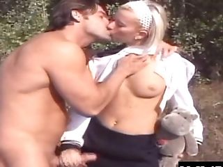 Blonde, Couple, Hardcore, Juicy, Licking, Moaning, Natural Tits, Outdoor, Pussy,