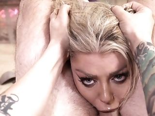 Ball Licking, Blonde, Blowjob, Close Up, Cum In Mouth, Cum Swallowing, Cumshot, Deepthroat, Drooling, Facial,