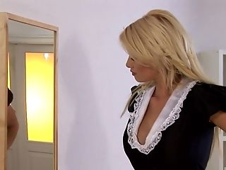 Blonde, Caylian Curtis, Game, Maid, Masturbation, Model, Pornstar, Solo, Uniform,