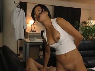 Big Natural Tits, Couple, Cum, Cum In Mouth, Cumshot, Japanese, Mature, Moaning, Natural Tits, Nylon,