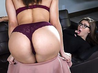 Amazing, Babe, Brunette, Doggystyle, Femdom, Glasses, Gorgeous, Hardcore, Lesbian, MILF,