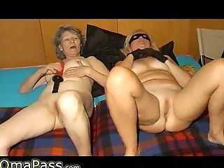 Granny, Horny, Lesbian, Masturbation, Mature,