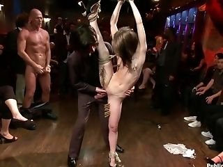 BDSM, Brunette, Fetish, Flexible, Group Sex, HD, Princess Donna, Public, Rough, Sensi Pearl,