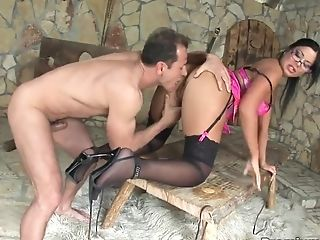 Anal Sex, Angelica Heart, Bold, Brunette, Curvy, Doggystyle, Hardcore, HD, Stockings, Teen,