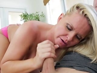 Big Tits, Blonde, Blowjob, Boyfriend, Cum In Mouth, Cumshot, Daughter, Deepthroat, Dick, Fake Tits,