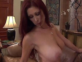 Big Natural Tits, Big Nipples, Big Tits, Cougar, HD, Licking, Long Hair, Oral Sex, Redhead, Stockings,