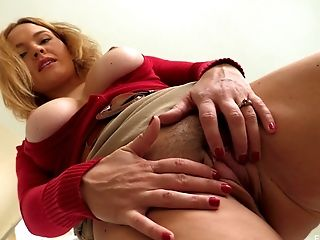 Big Tits, Blonde, Close Up, Model, Natural Tits, Pussy, Solo, Spreading,