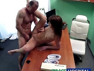 Amateur, Blowjob, Brunette, Doctor, Hidden Cam, Hospital, Reality, Voyeur,