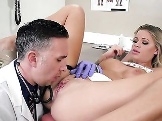 Big Natural Tits, Big Nipples, Big Tits, Blonde, Clinic, Doctor, HD, Nurse, Screaming, Worship,