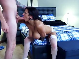 Anal Sex, Bedroom, Big Tits, Bride, Brunette, Close Up, Doggystyle, Hardcore, HD, Lingerie,