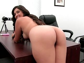 Amateur, Ass, Babe, Brunette, Casting, Couch, Desk, From Behind, Glamour, Hardcore,