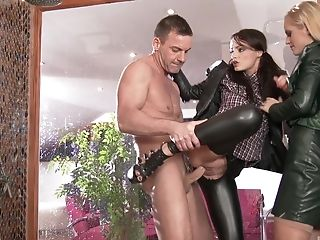 Clothed Sex, Dressed, FFM, Fingering, Flexible, Glamour, Hardcore, Leather, Pornstar, Slut,