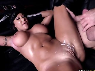 Ass, Big Tits, Blowjob, Bold, Brunette, Car, Couple, Cowgirl, Cumshot, Doggystyle,