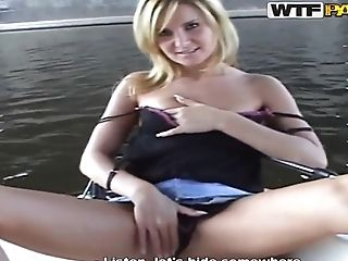 Big Tits, Blonde, Blowjob, Boat, Cunnilingus, Cute, Czech, HD, Katy Sweet, Public,