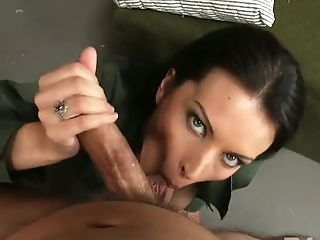Bailey Brooks, Schönheit, Blowjob, Brünette, Niedlich, Deepthroating, Horny, Saftig, Military, Slut,