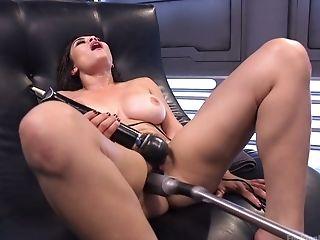 Big Tits, Dildo, Fucking Machine, Hairy, Horny, Kinky, Lingerie, Moaning, Panties, Pussy,