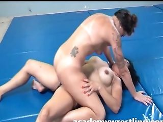 Bikini, Catfight, Dildo, Fucking, Lesbian, Submissive,
