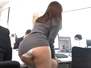 Adorable, Couple, Fucking, Hardcore, Japanese, Long Hair, Office, Panties, Secretary,