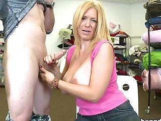 Big Tits, Blonde, Blowjob, Charlee Chase, Charlie Chase, Handjob, HD, Natural Tits,